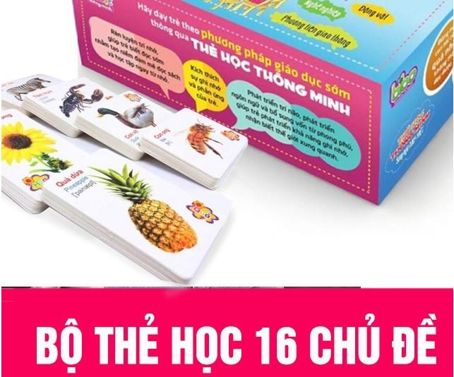 Bộ thẻ học thông minh Anh - Việt
