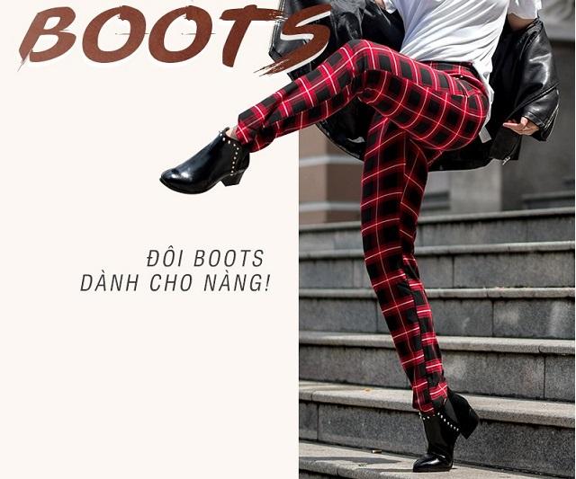 Boots đẹp cho nàng dạo phố