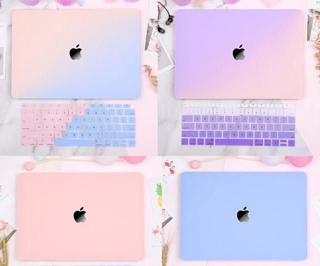 Case Macbook màu hồng Redlai