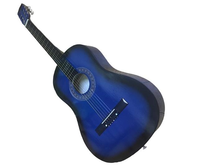 Đàn guitar acoustic màu xanh
