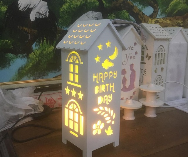 Đèn ngủ handmade khắc tên