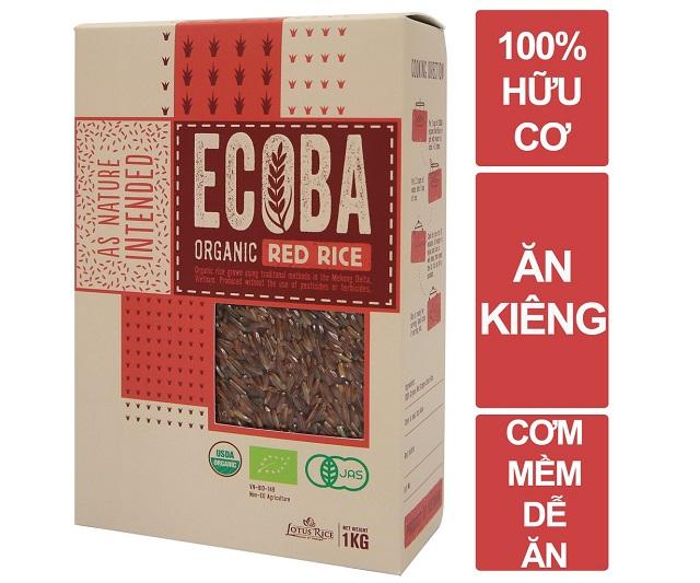 Gạo lứt đỏ hữu cơ ECOBA
