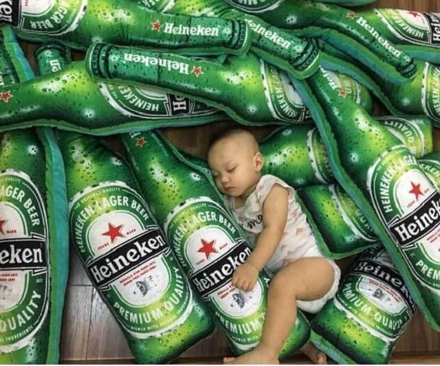 Gối ôm chai bia mới nhất 2019