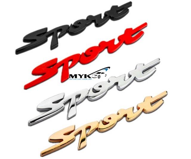 Logo 3D kim loại Sport cao cấp